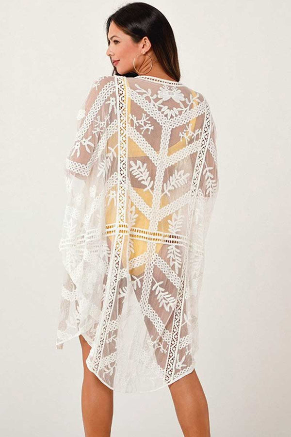 CupNami White Lace Cover Up