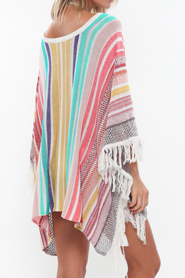 CupNami Rainbow Knitted Cover Up