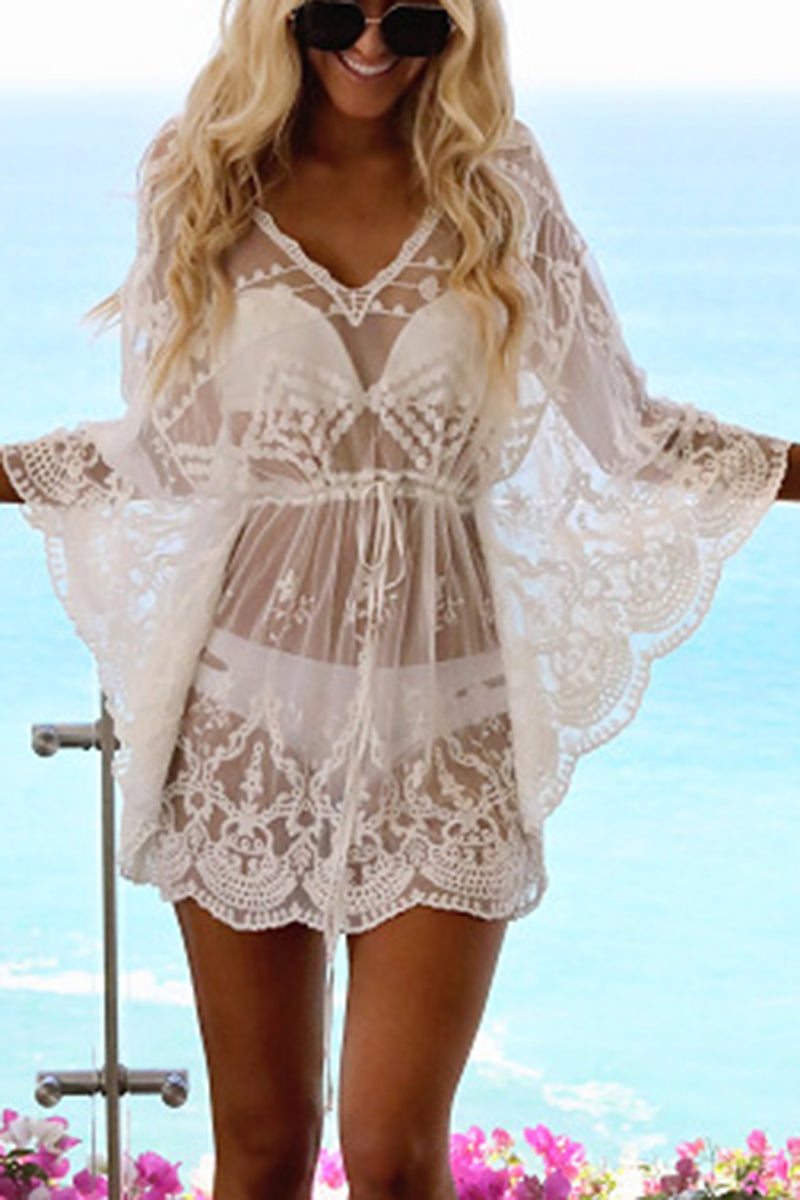 CupNami Lace Embroidery Cover Up