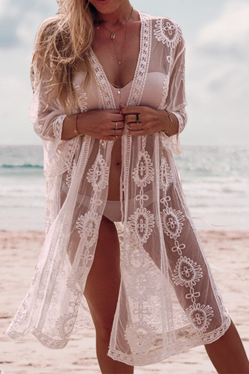 CupNami Open Front Lace Cover Up