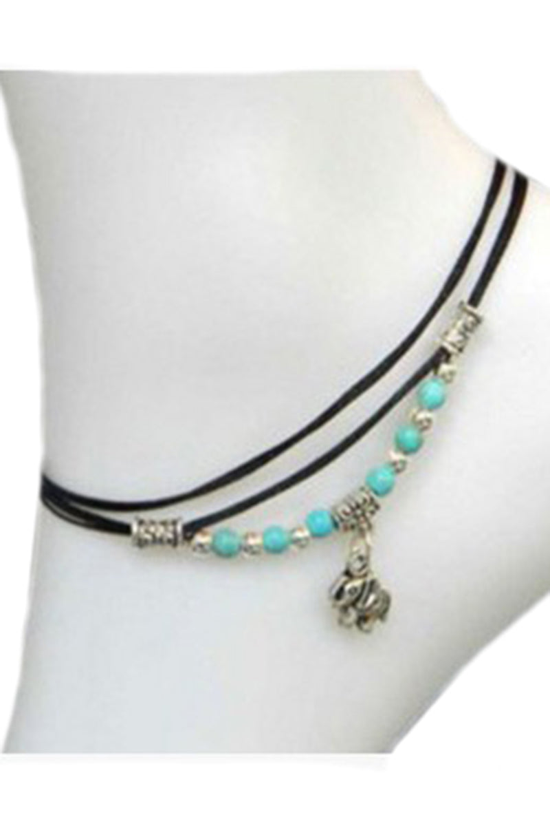CupNami Turquoise Elephant Shaped Anklet