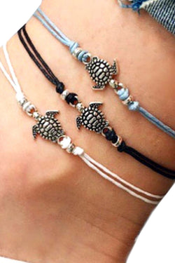 CupNami Wax Rope Turtle Anklet