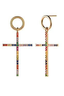 CupNami Golden Cross Earrings For Women