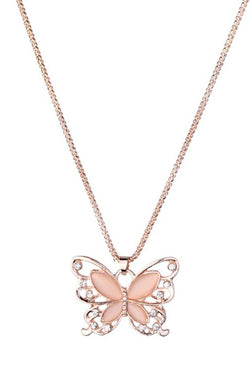 CupNami Cat's Eye Butterfly Shaped Necklace