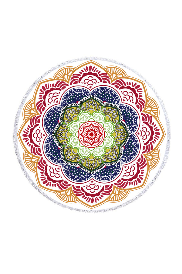 CupNami Muti-Color Mandala Beach Towel With Tassels