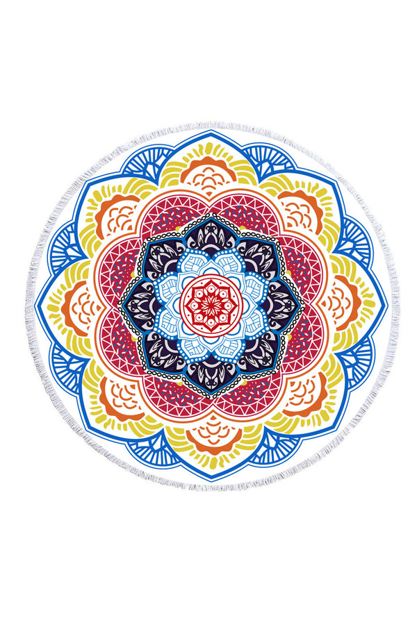 CupNami Soft Muti-Color Mandala Beach Towel
