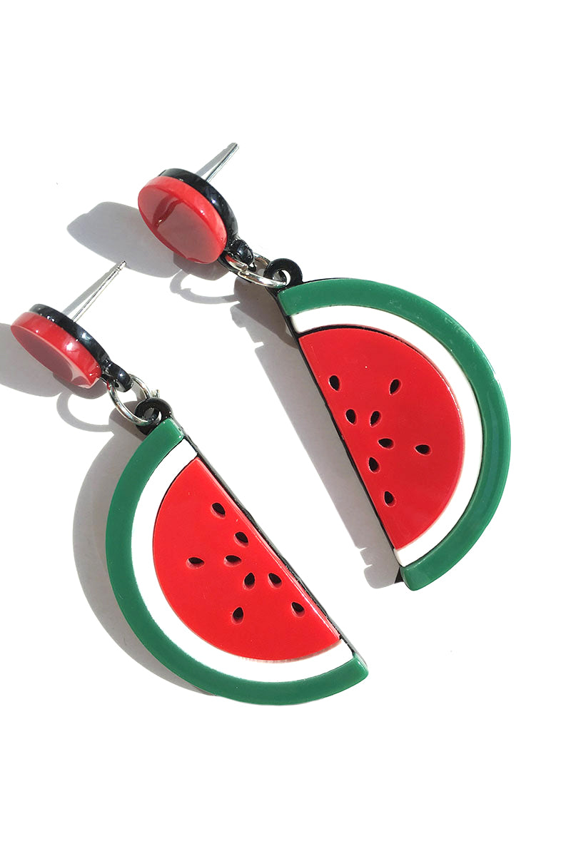 CupNami Watermelon Shaped Acrylic Earrings