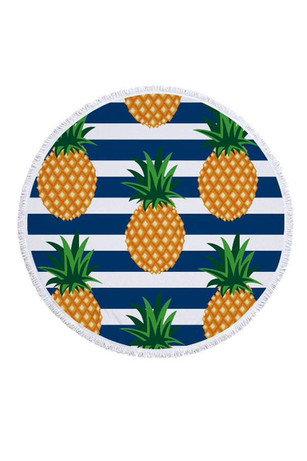 CupNami Stripe And Pineapple Printed Beach Towel