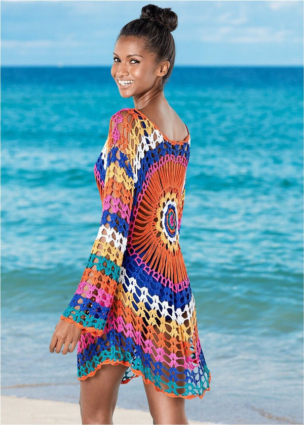 CupNami Rainbow Cut Out Hand Knitted Cover Up