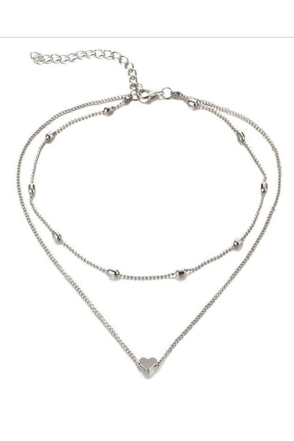 CupNami Double Deck Loving Heart Anklet