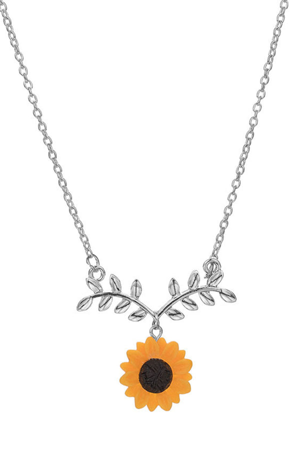 CupNami Sunflower Shaped Earrings And Necklace