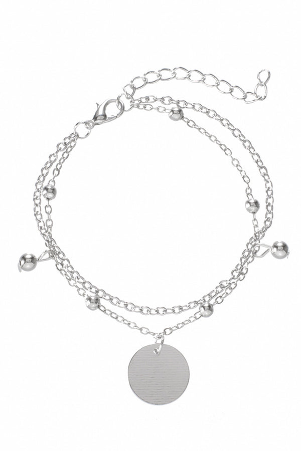 CupNami Silver Color Four Piece Bracelet Set