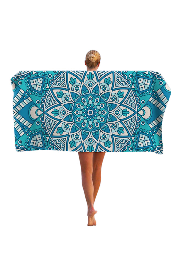 CupNami Skin-Friendly Mandala Oblong Beach Towel