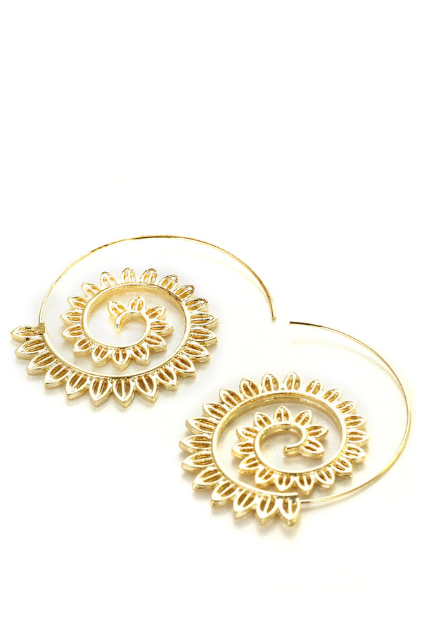 CupNami Vortex Gear Shaped Earrings