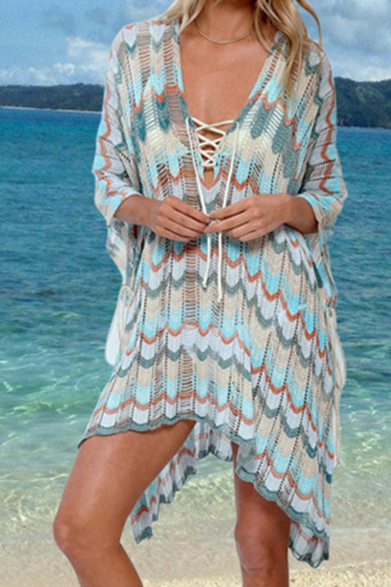CupNami V-Neck Knitted Cover Up