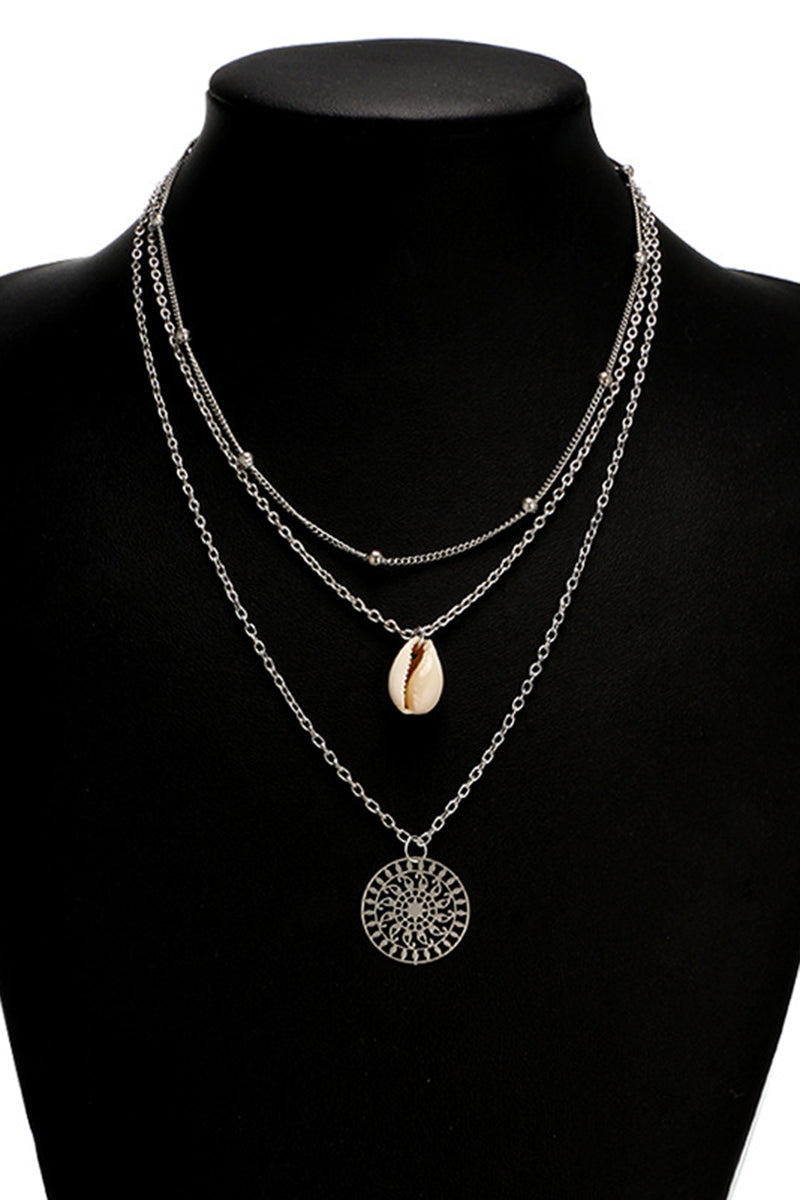 CupNami Boho Shell And Coin Necklace