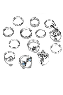 CupNami Ethnic Style Thirteen Pieces Rings Set