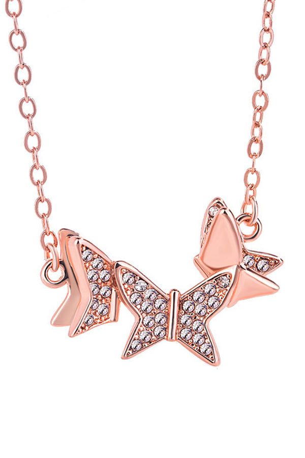 CupNami Diamond-Mounted Butterfly Necklace