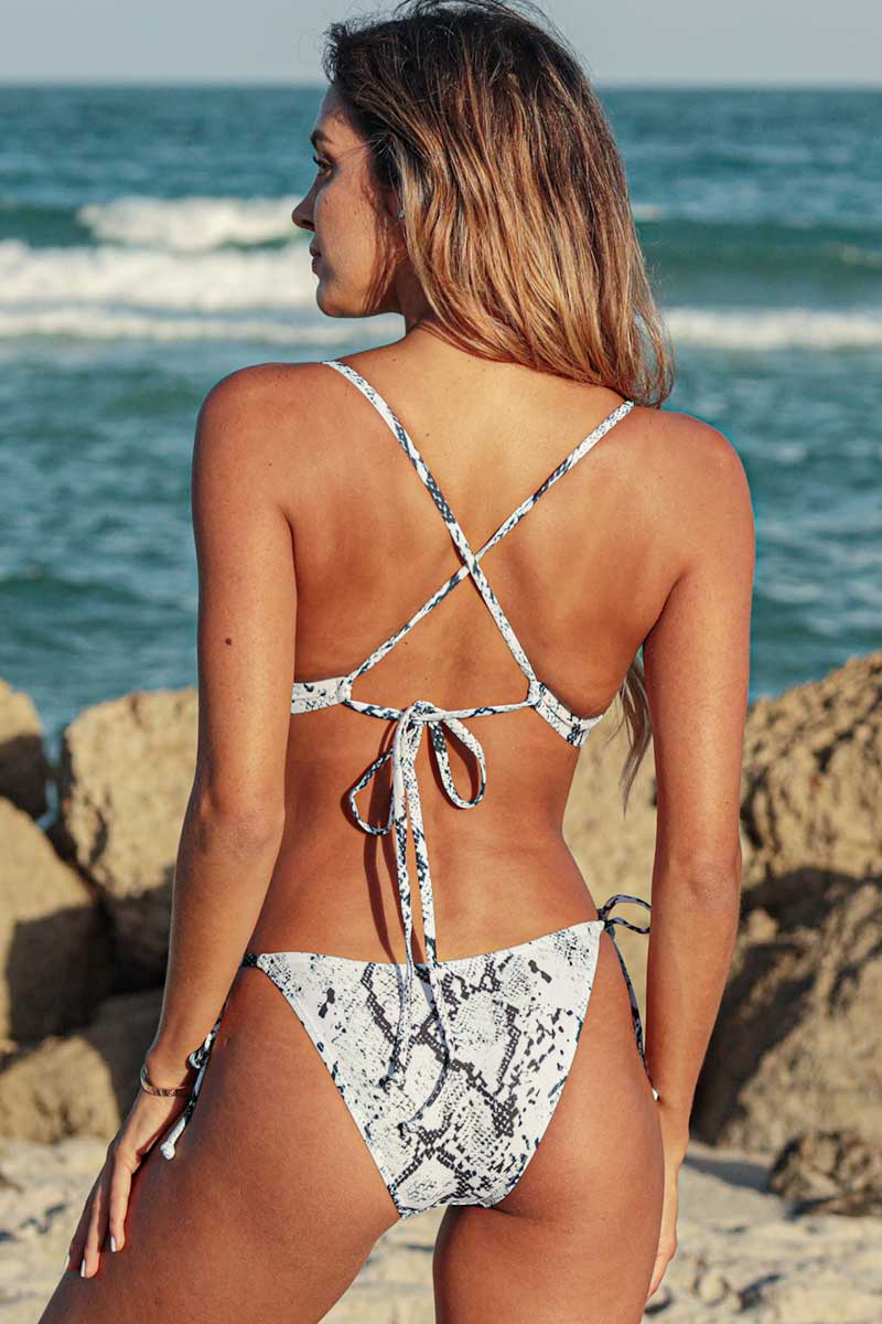 Snake Print Cut Out One Piece Swimsuit