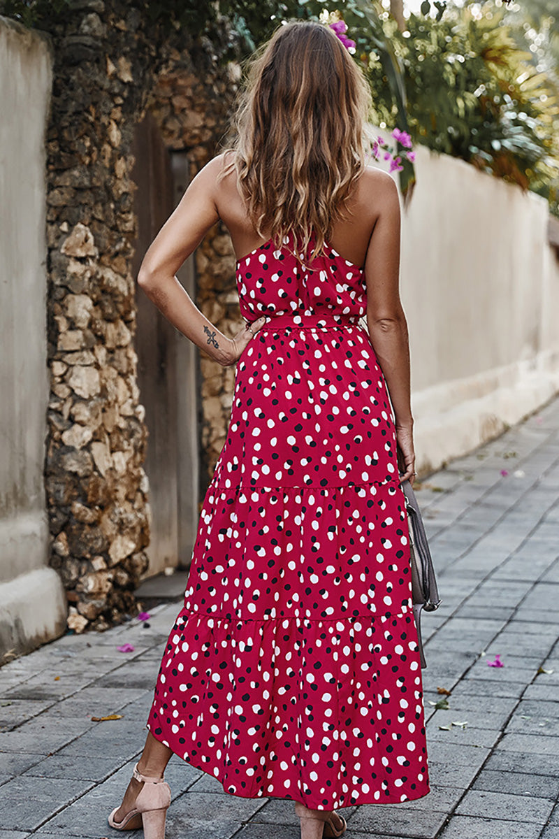 CupNami Bohemia Knotted Belted Maxi Dress