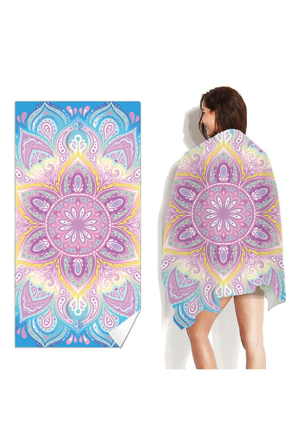 CupNami Bright Mandala Oblong Beach Towel