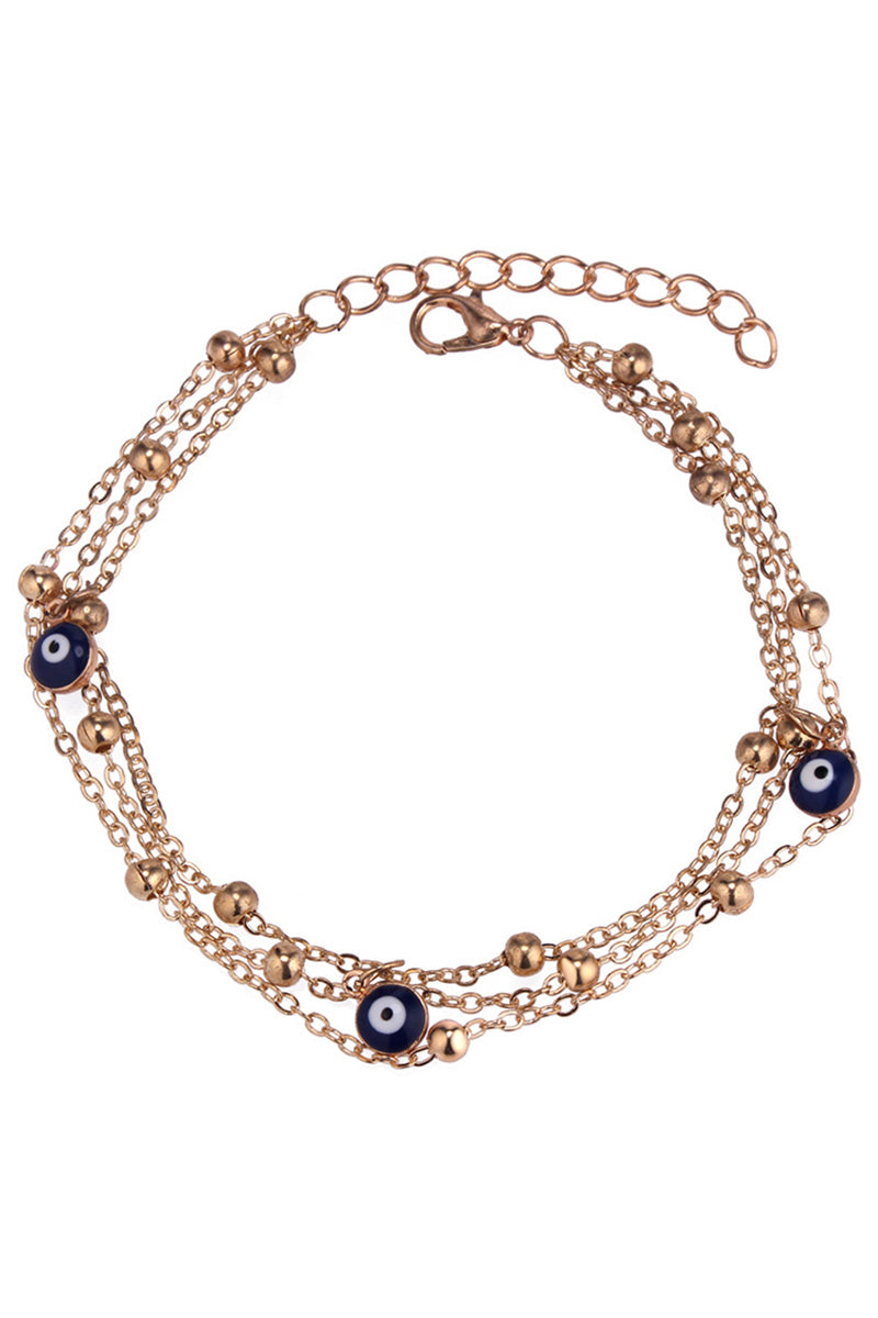 CupNami Blue Eyes Beads Anklet