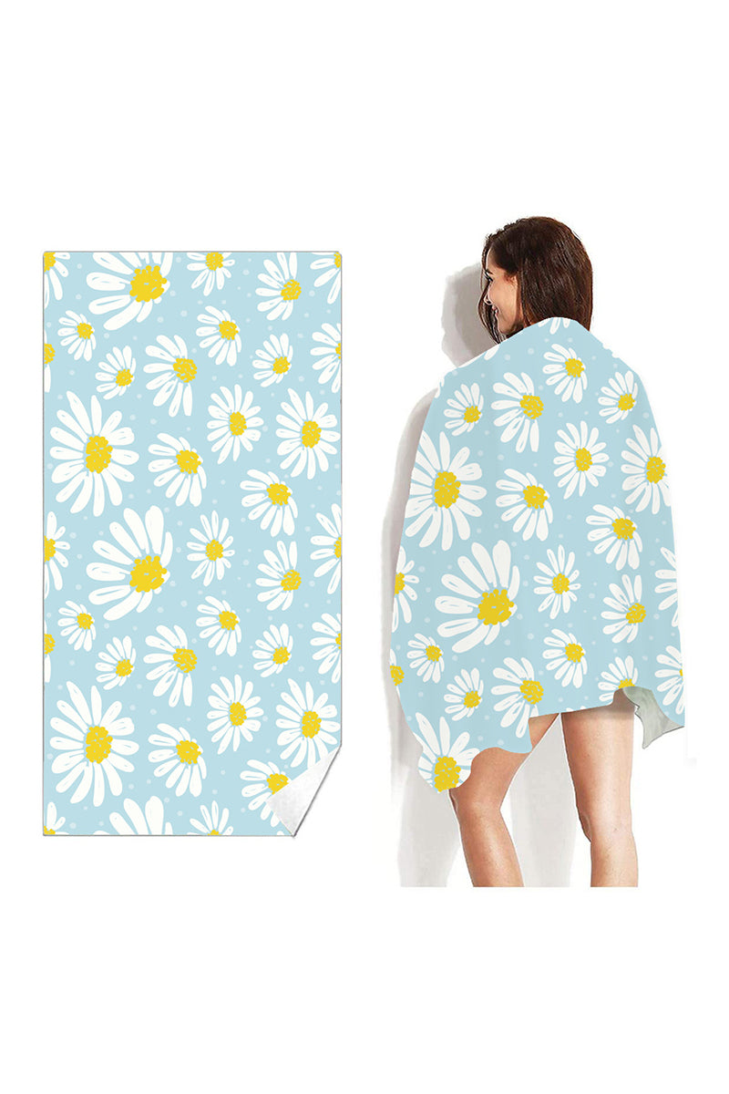 CupNami Skin-Friendly Daisy Printed Oblong Beach Towel