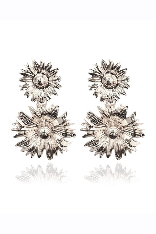 CupNami Double Sunflower Shaped Earrings