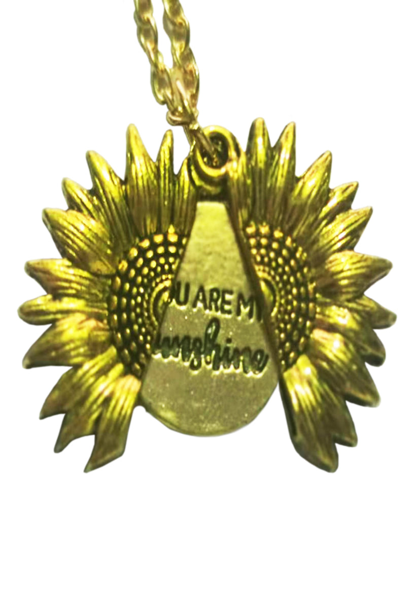 CupNami Double-Layered Sunflower Necklace