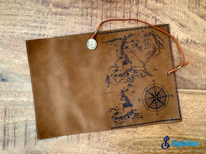 Leather world Map -  Cuir / Boussole