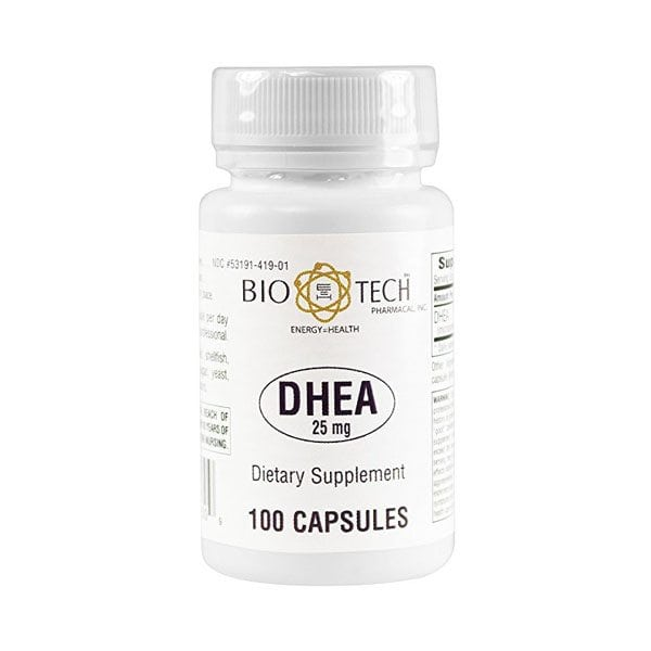 BioTech DHEA 25mg <br />(100 Capsules)