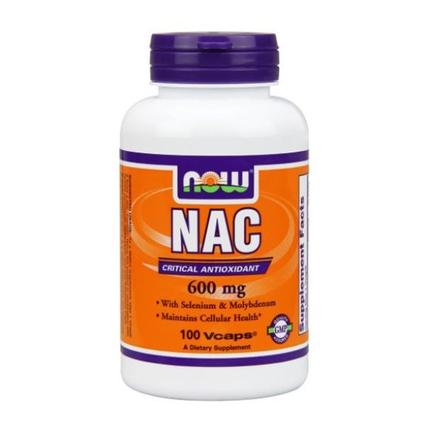NOW NAC N-Acetyl Cysteine 600mg (100 Vcaps)