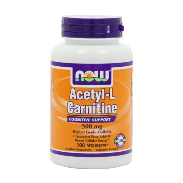 Now Acetyl-L Carnitine 500 mg (100 Vcaps)