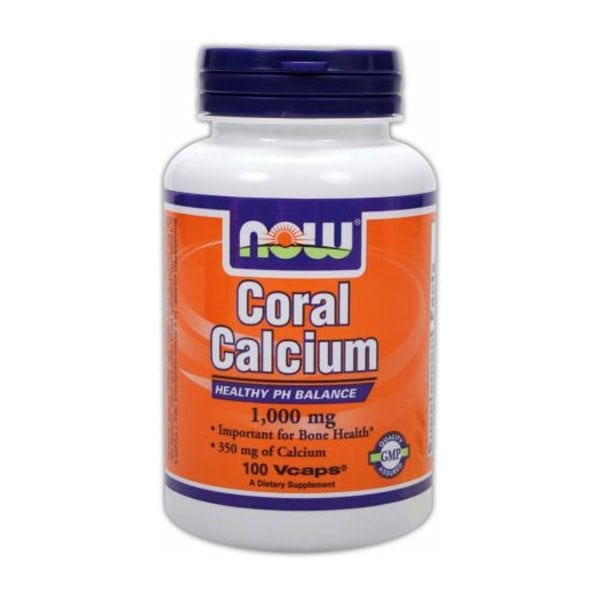 NOW Coral Calcium 1,000mg (100 Vcaps)