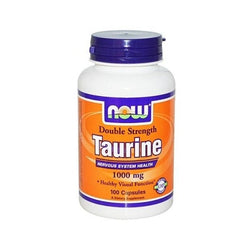 NOW Double Strength Taurine 1000mg (100 Capsules)