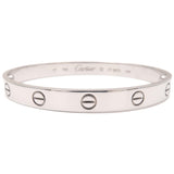 Cartier Love Bracelet Bangle K18WG Size #17 White Gold-dct-ep_vintage luxury Store
