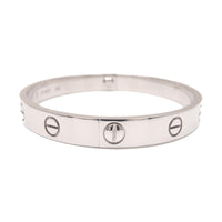 Cartier Love Bracelet Bangle K18WG Size #17 White Gold