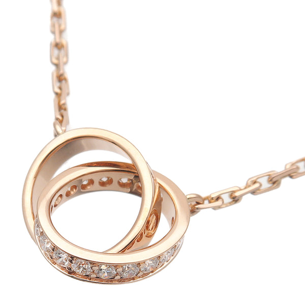 Cartier Baby Love Diamond Necklace K18 750 Rose Gold OM0165-dct-ep_vintage luxury Store