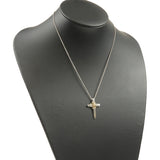 Tiffany&Co. Signature Cross Necklace SV925×750YG Silver