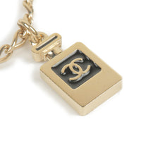 CHANEL CoCo Mark Icon Chain Belt Champagne Gold Black 05C