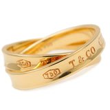 Tiffany&Co. Interlocking Circle Ring K18 Yellow Gold US6.5-7