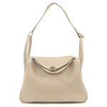 HERMES Lindy 30 Taurillon Clemence 2way bag Hand Bag Gray