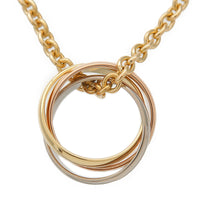 Cartier Trinity Necklace K18 750 Yellow/White/Rose Gold
