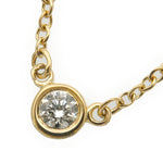 Tiffany&Co. By the Yard 1P Diamond Necklace 0.05ct Yellow Gold