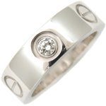 Cartier-Love-Ring-3P-Half-Diamond-K18-White-Gold-#47-US4-4.5