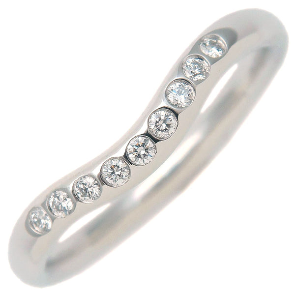 Tiffany&Co.-Curved-Band-Ring-9P-Diamond-Platinum-US4.5-EU48