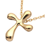 Tiffany&Co.-Mini-Cross-Necklace-Pendant-K18-750-Yellow-Gold