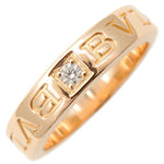 BVLGARI-Double-Logo-Ring-1P-Diamond-K18-Rose-Gold-US5-EU49