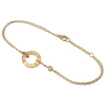 Cartier-Love-Circle-2P-Diamond-Bracelet-K18-750-Yellow-Gold