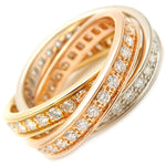 Cartier-Trinity-Ring-Full-Diamond-K18-YG/WG/PG-#50-US4.5-EU48